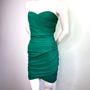 BCBG Madge Sweetheart Ruched Draped Cocktail Dress